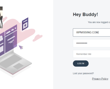Modern Professional Wordpress Login Page - REFRESH