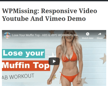 Pretty Simple Youtube & Vimeo Embed Plugin For Wordpress