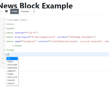 Gutenberg Code Editor Blocks