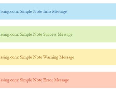 Notification Bar Block - Simple Note