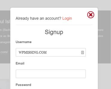 AJAX Login & Signup Popup For Wordpress
