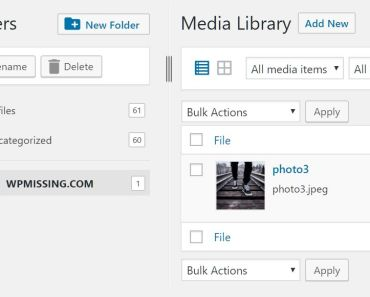 Categorize Media Files In Different Folders - FileBird Lite