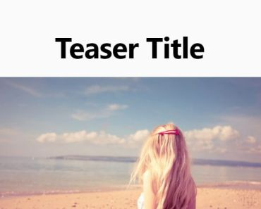 Create A Attractive Teaser Section On Wordpress - Simple Teaser Block