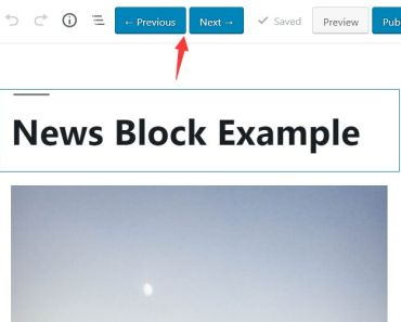 Next Prev Post Editing Buttons For Wordpress