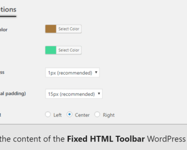 Generic Sticky Top Bottom Bar Plugn For Wordpress - Fixed HTML Toolbar