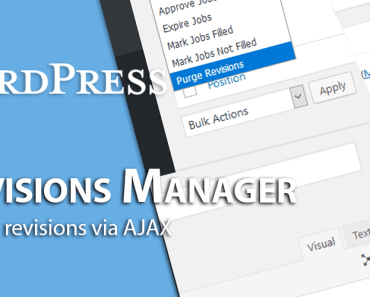 Purge Revisions Via AJAX - WP Revisions Manager
