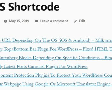 Display RSS Feeds With Custom Template Using Shortcodes - LH RSS Shortcode