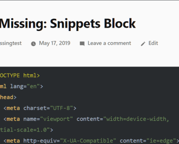 Highlight Your Source Code With Snippets Block
