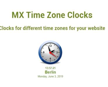 Display The Current Time Around The World Using MX Time Zone Clocks Plugin
