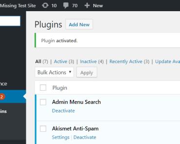 Filter Through Admin Menu Items With A Search Box - Admin Menu Search