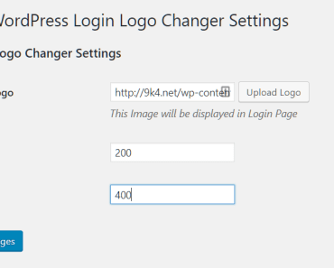 Upload your logo and specify the image size