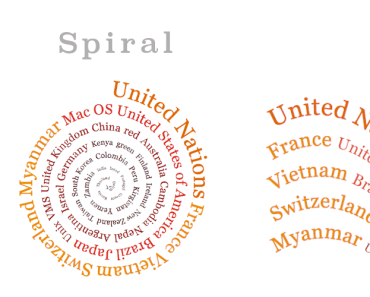 Colorful Spiral And Wavy Tag Cloud Plugin - Creative Tag Cloud