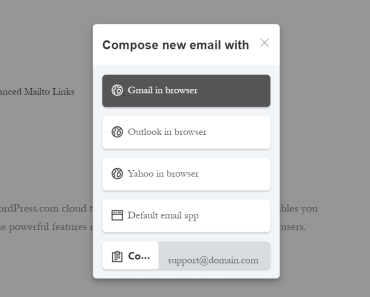 Convenient Email Contact Popup Plugin - Advanced Mailto Links
