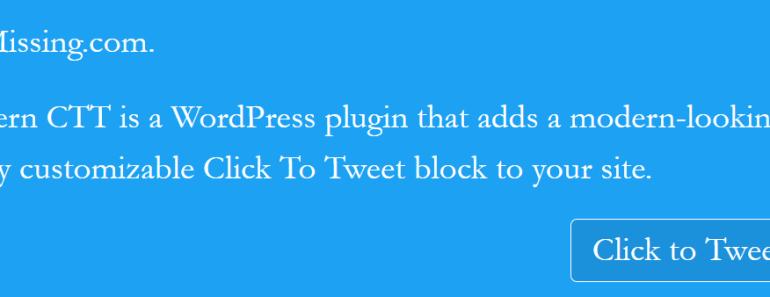 Beautiful Click To Tweet Block For WordPress - Modern CTT