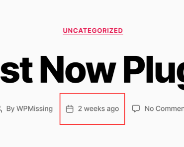 Easy Time Ago Plugin For WordPress - Just Now