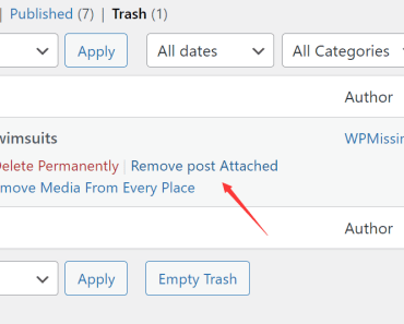 Remove Attachments From Posts, Pages, And Products