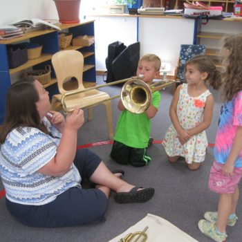 Learning how to play the trombone
