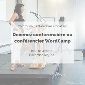 Devenez conférencière ou conférencier WordCamp