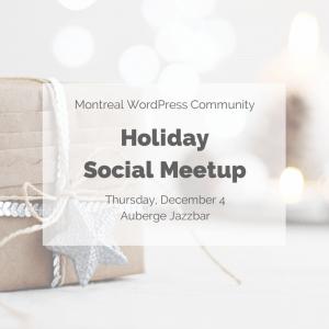 Holiday Social Meetup