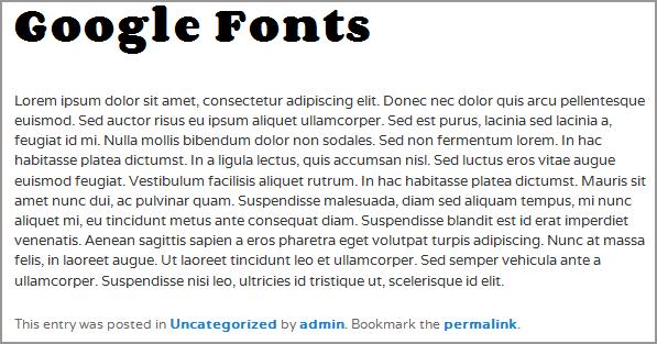 Twenty eleven with corben and varela google fonts