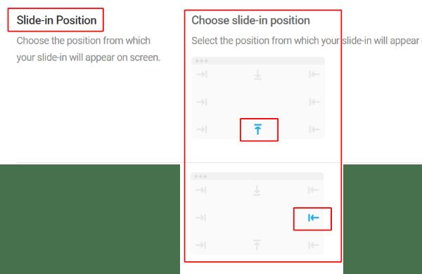 Position de glissement (choisissez)