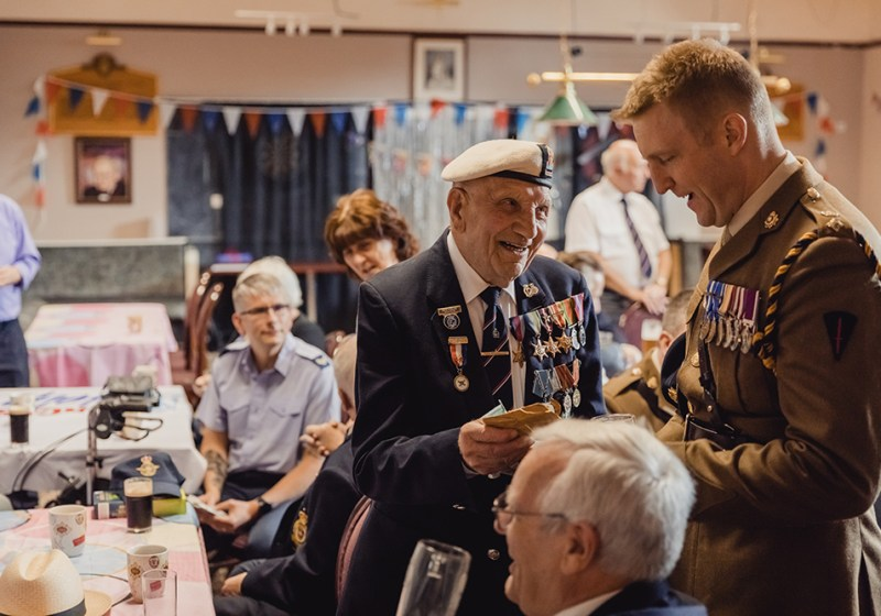 Military personnel at an event for SSAFA