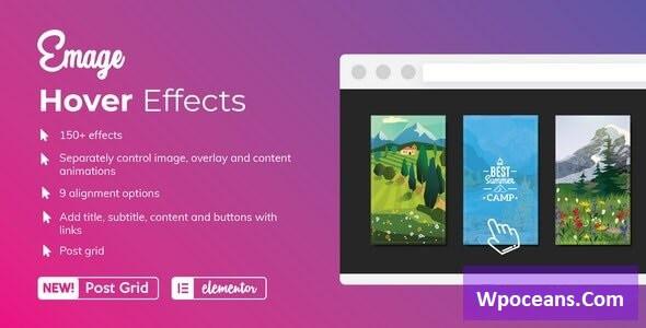 Emage v4.3.4 - Image Hover Effects for Elementor