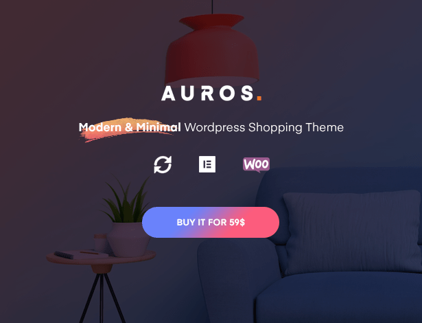Auros Furniture Elementor WooCommerce Theme