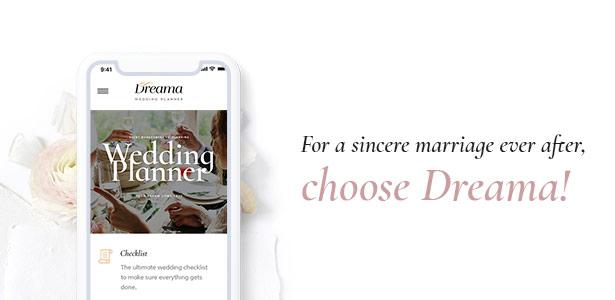 Dreama Responsive WordPress Theme For Wedding Planner