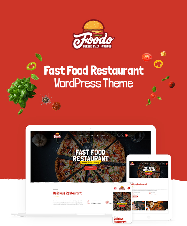 Foodo - WordPress theme for a fast food restaurant