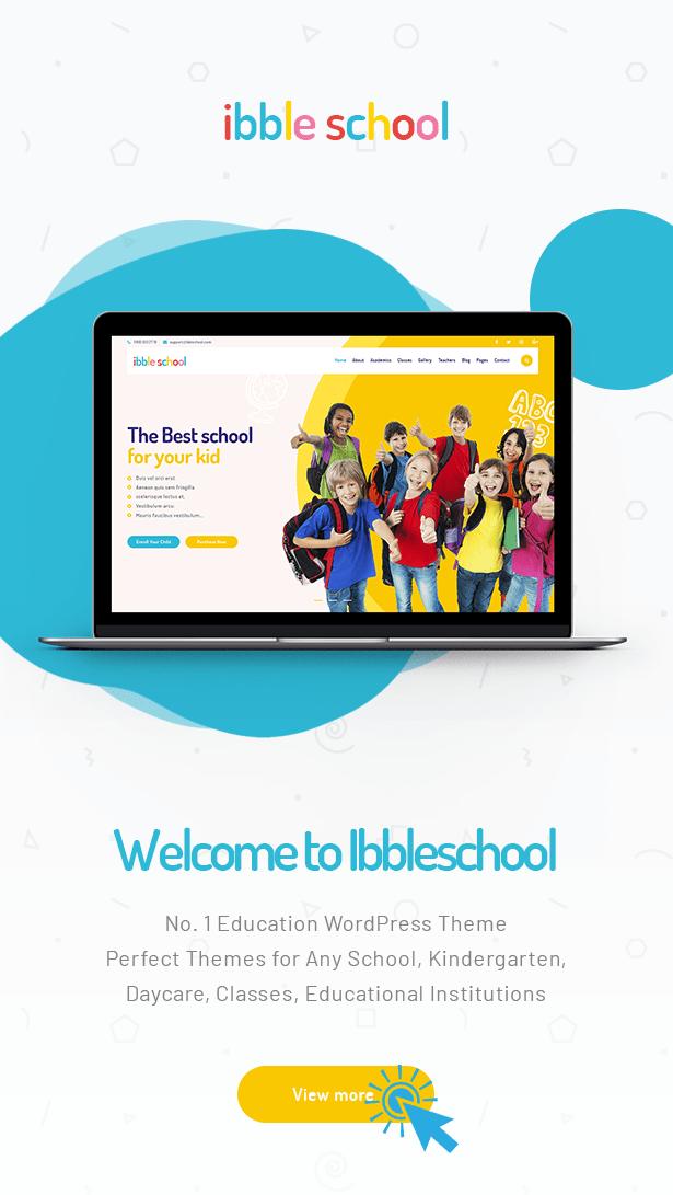 Ibble Best Education WordPress Theme 2019