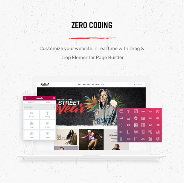 Striz Fashion Ecommerce WordPress Theme Built With Elementor page builder