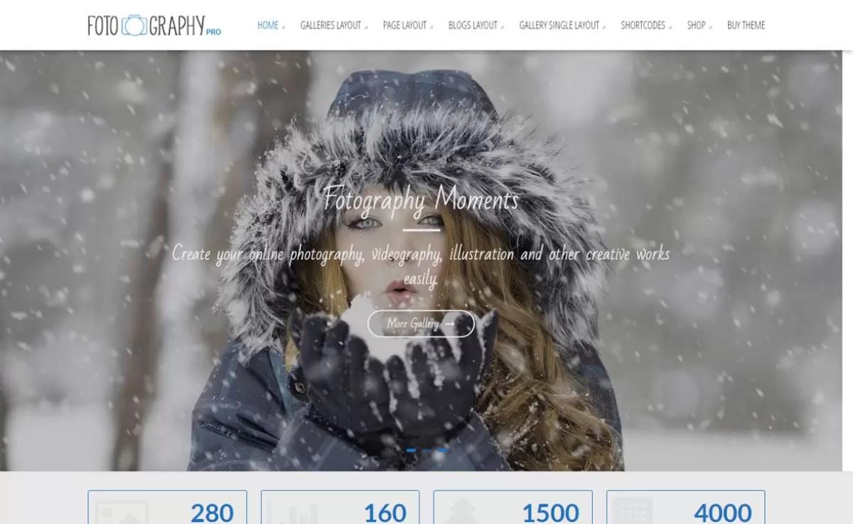 Fotography Pro - Top 5 Premium Photography WordPress Themes