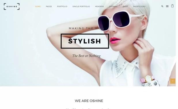 Oshine - Top 5 Premium Photography WordPress Themes
