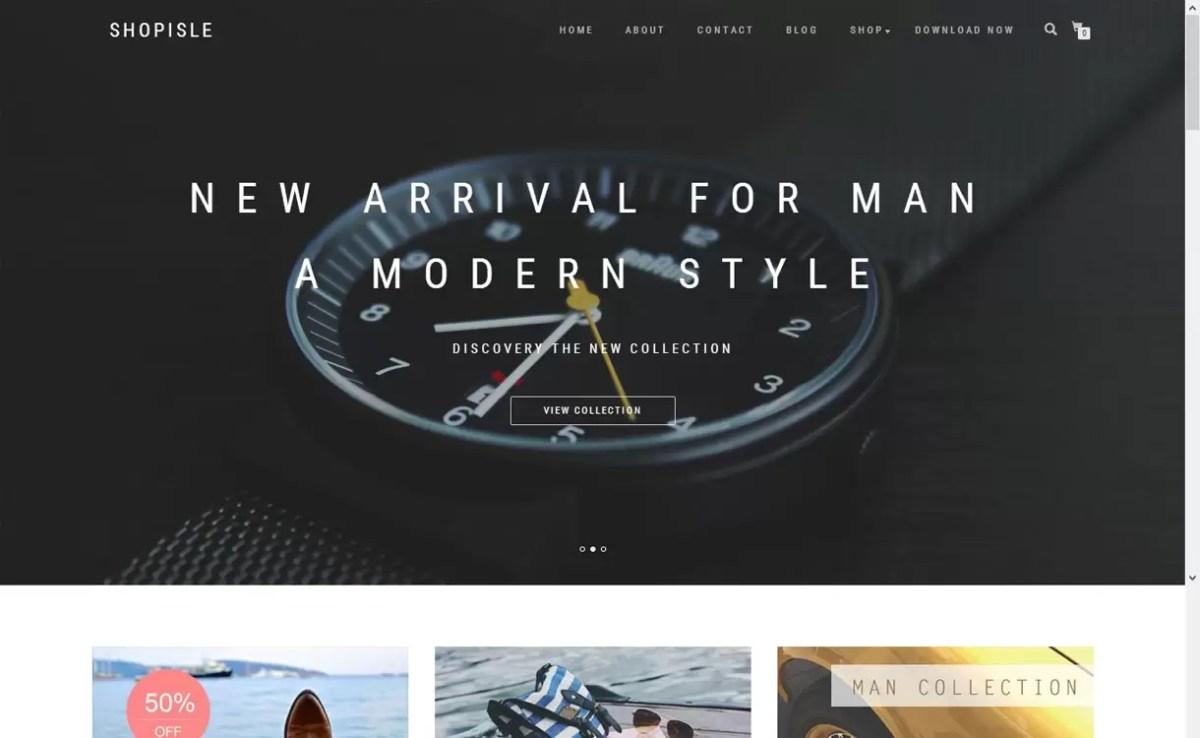 Shopisle-free responsive WordPress theme