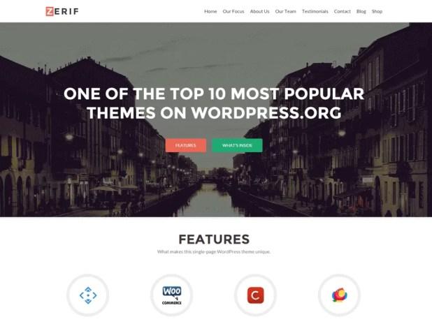 zerif-lite-free responsive WordPress theme