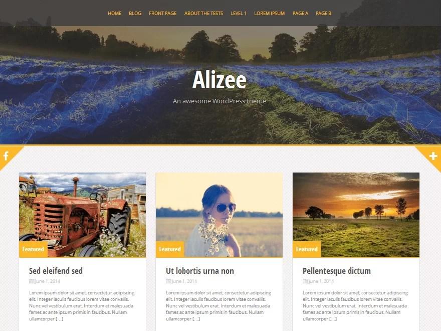 alizee-free responsive WordPress theme