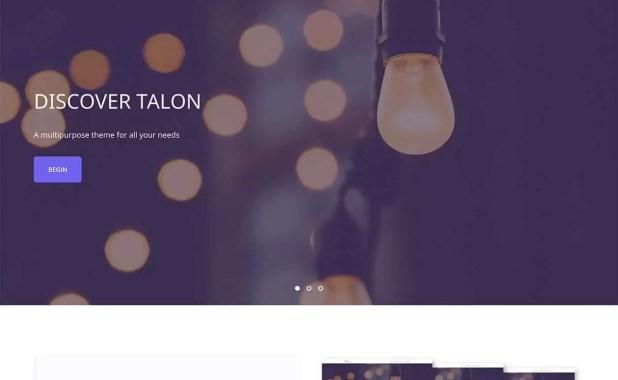 talon- Free portfolio Theme