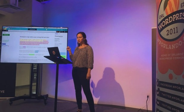 Kara Franco presenting at WordPress Orlando