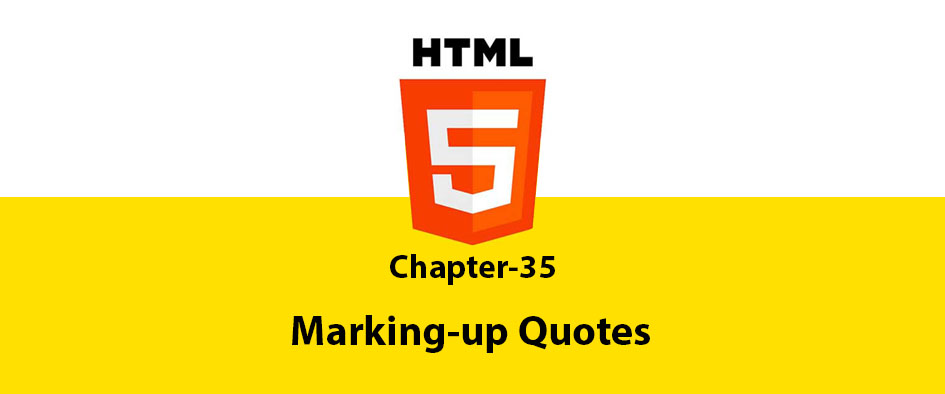 Chapter 35: Marking-up Quotes