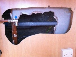 Image shows how it can be hard to find a high water pressure leak.