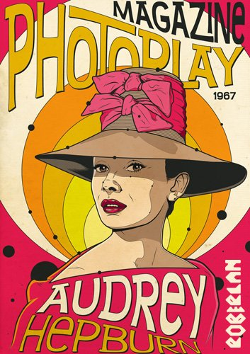 Audrey Hepburn Photoplay Magazine Cover image.