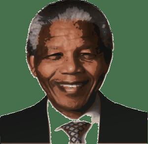 Effect of Mandela portrait against injustice