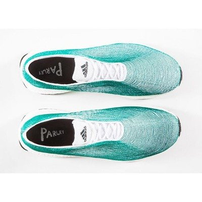 The world's first #shoe upper made solely from recycled ocean waste.