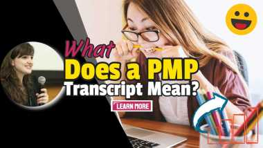 "Image text: ""What Does a PMP Transcript Mean?""."