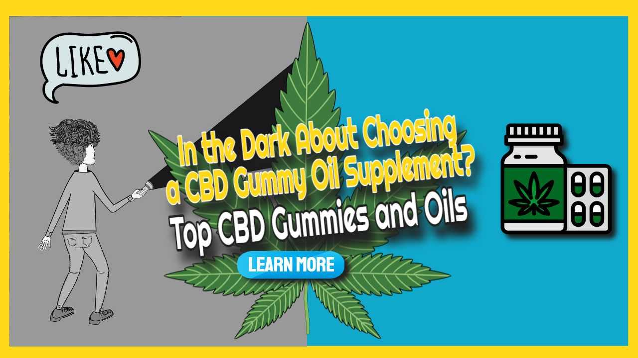 "Image text: ""Top CBD Gummies and Oils""."