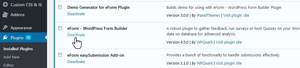Completely Uninstalling the Plugin - Common Tutorials