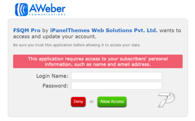 aweber authorization