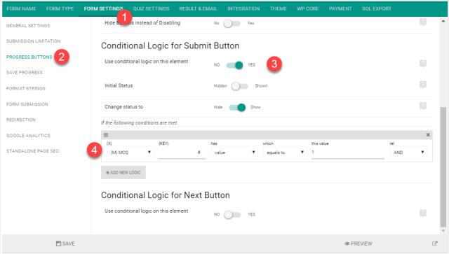 Conditional Logic on Submit Button