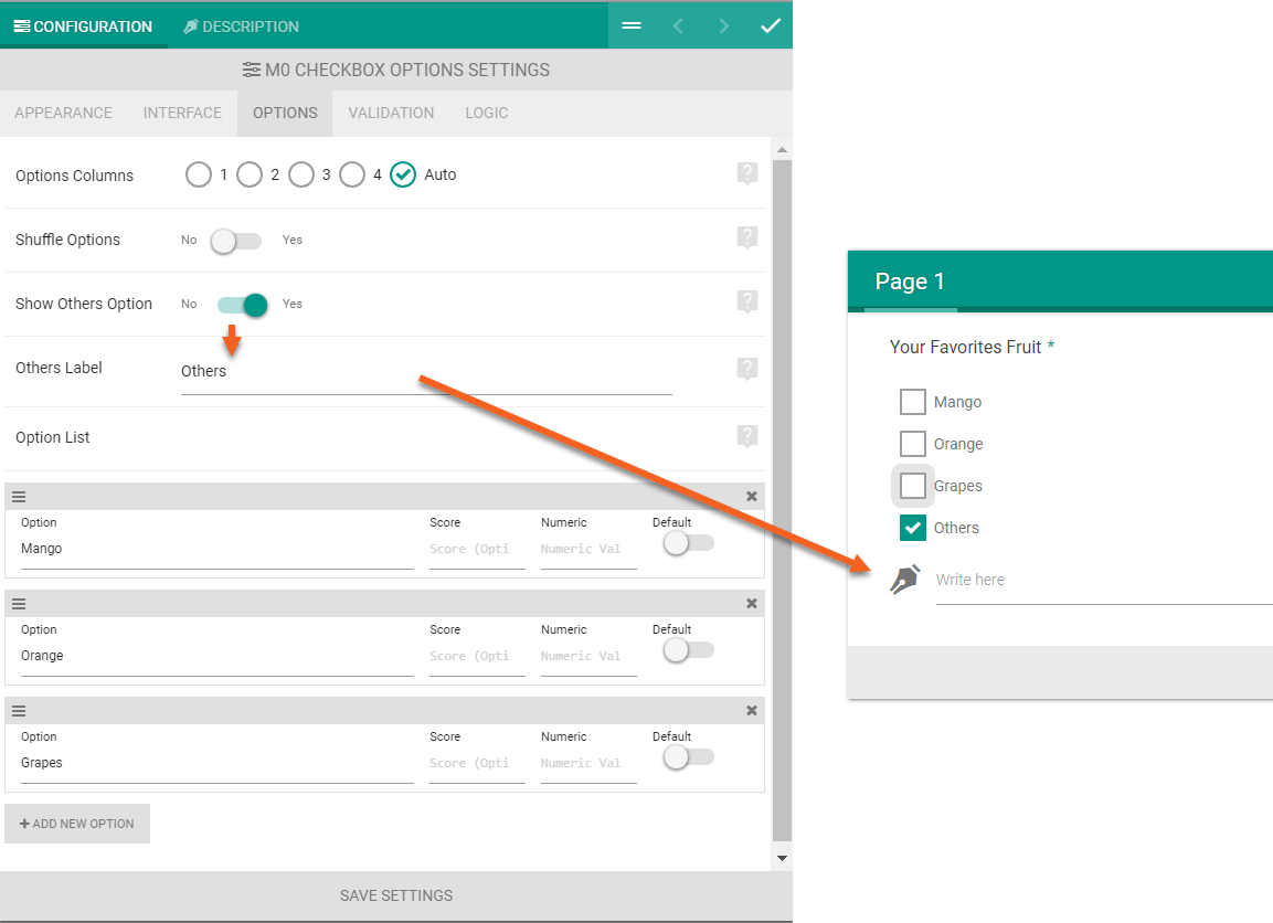 User input from Checkbox, Radio and Dropdown element - Quiz